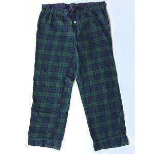 J.Crew Pajama Pants Black Watch Plaid Size Large